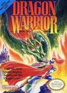 Dragon Warrior RPG Nintendo NES game box art image pic