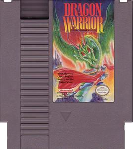 Dragon Warrior RPG Nintendo NES game cartridge image pic