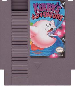 Kirby's Adventure Nintendo NES Game cartridge image pic