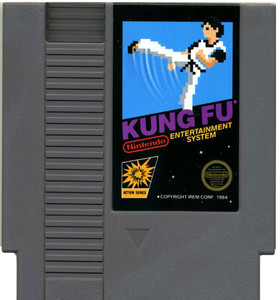 Kung Fu Nintendo NES game cartridge image pic