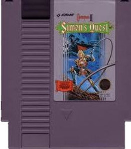Castlevania II Simon's Quest Nintendo NES Game cartridge image pic