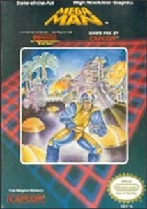 Mega Man Nintendo NES video game Box Art image pic