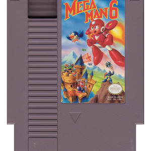 Mega Man 6 Nintendo NES video game for sale cart.