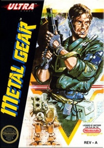 Metal Gear Nintendo NES game box art image pic