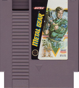 Metal Gear Nintendo NES game cartridge image pic
