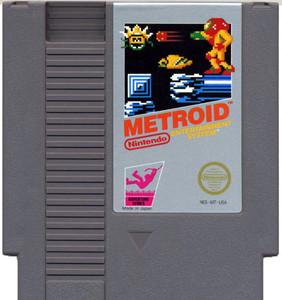 Metroid Nintendo NES video game cartridge image pic