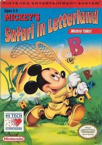Mickey's Safari in Letterland - NES Game