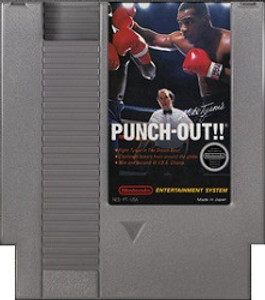 Mike Tyson's Punch Out Nintendo NES game cartridge image pic