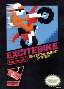 Excitebike Nintendo NES game box image pic