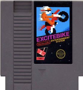 Excitebike Nintendo NES game cartridge image pic