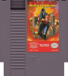 Ninja Gaiden Nintendo NES video game cartridge image pic