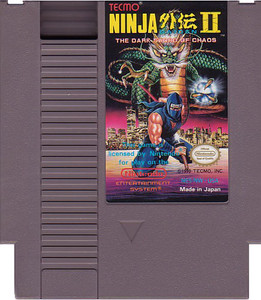 Ninja Gaiden II(2) Nintendo NES video game cartridge image pic