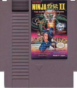 Ninja Gaiden II(2) Nintendo NES video game cartridge image pic