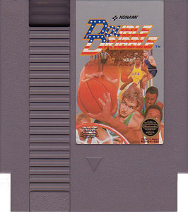 Double Dribble Baseketball NBA Nintendo NES game cartridge image pic