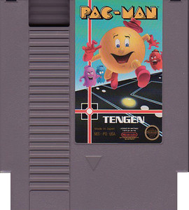 Pac-Man Nintendo NES game cartridge image pic