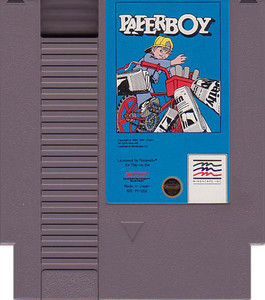 Paperboy Nintendo NES game cartridge image pic
