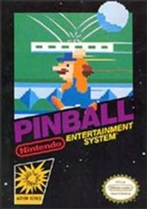 Pinball Nintendo NES game box image pic
