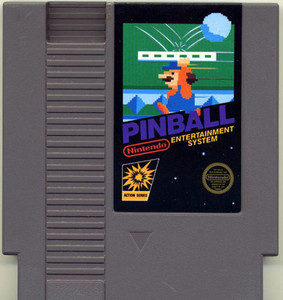 Pinball Nintendo NES game cartridge image pic