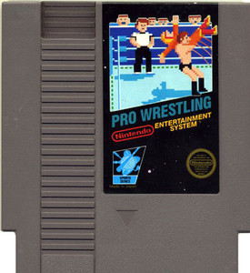 Pro Wrestling Nintendo NES video game cartridge image pic