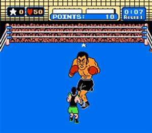 Punch-Out!! Nintendo NES for sale, in game screen shot.