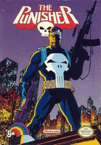 The Punisher Marvel Comics Nintendo NES game box image pic