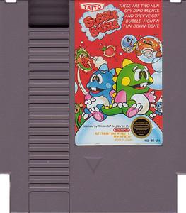 Bubble Bobble Nintendo NES game cartridge image pic