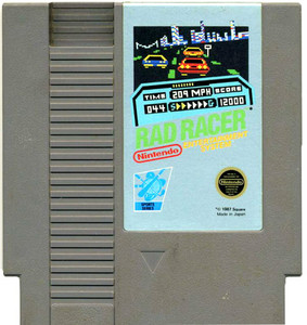 Rad Racer Nintendo NES for sale video game cartridge image pic.