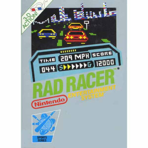 Rad Racer Nintendo NES for sale video game box image pic