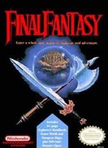 Final Fantasy RPG Nintendo NES game box image pic