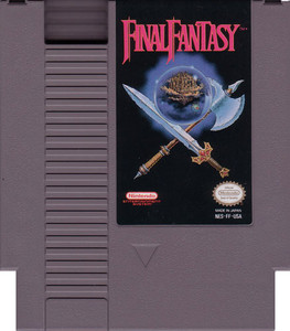 Final Fantasy RPG Nintendo NES game cartridge image pic