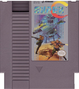 Super C (Contra II) Nintendo NES game cartridge image pic