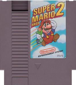 Super Mario Bros. 2 Nintendo NES game used cartridge image
