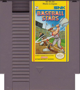 Baseball Stars Nintendo NES game cartridge image pic