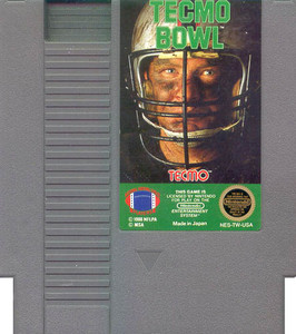Tecmo Football Nintendo NES video game cartridge image pic