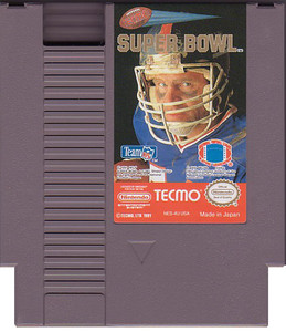 Tecmo Super Bowl NFL Football Nintendo NES game cartridge image pic