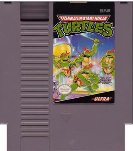 Teenage Mutant Ninja Turtles TMNT Nintendo NES game cartridge image pic