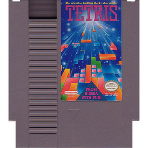 Tetris Nintendo NES game cartridge image pic