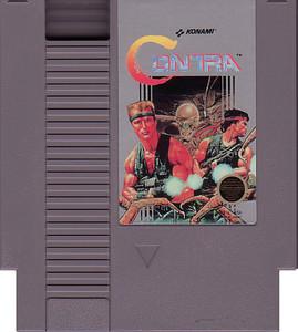 Contra Nintendo NES game cartridge image pic