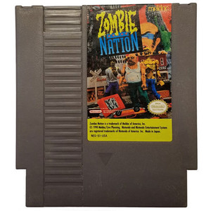 Zombie Nation - NES Game Cartridge