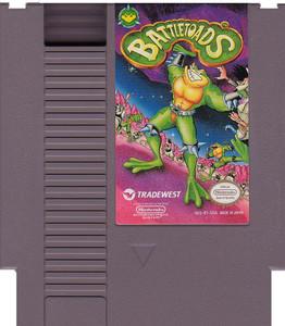 Battletoads Nintendo NES game cartridge image pic