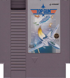 Top Gun Nintendo NES game cartridge image pic