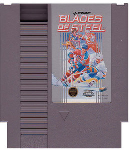 Blades of Steel NHL Hockey Nintendo NES game cartridge image pic
