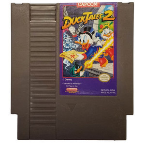 Duck Tales 2, Disney's Nintendo NES game cartridge image pic