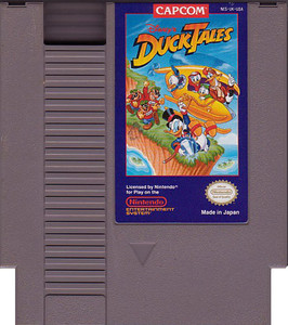 Duck Tales, Disney's - NES game cartridge image