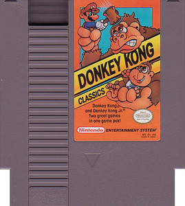 Donkey Kong Classics 2 games in 1 with Quality Seal Nintendo NES game cartridge image pic
