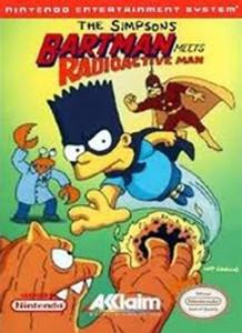 Simpsons Bartman Meets Radioactive Man - NES Game