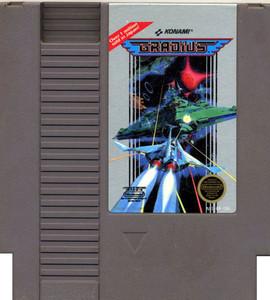 Gradius Nintendo NES Game cartridge Image