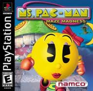 MS. PAC MAN MAZE MADNESS - PS1 Game