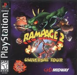 Rampage 2 Universal Tour - PS1 Game
