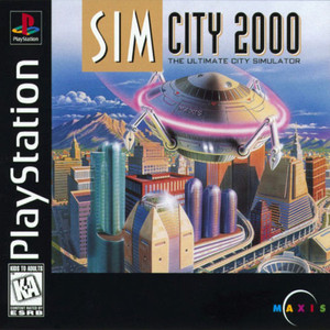 SIM City 2000 - PS1 Game